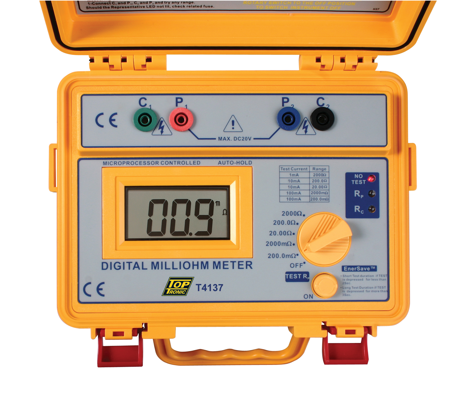 Digital Ohm Meter : T digital milliohm meter toptronic ltd